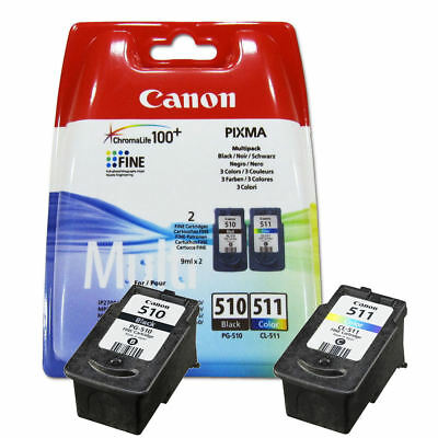 Original Canon PG510 Black & CL511 Colour Ink Cartridges For PIXMA MP280 Printer