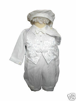 Baby Boy Infant Toddler Christening Baptism Mary Maria Stole White Gown 0-30M