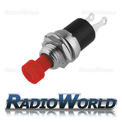 12v Push Button Switch Momentary (ON) - OFF SPST Car Dash Horn Engine Start Red