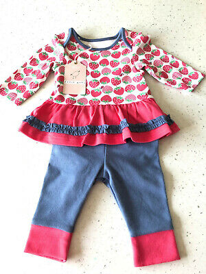 Baby Girls Strawberry Top & Leggings 2 piece Outfit Newborn & Up to 1 Month M&S