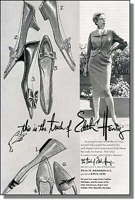 1960 Edith Henry Fashion Shoes for Women, Print-Ad