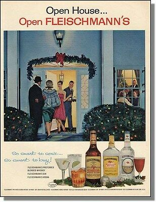 1963 Christmas Party - Fleischmann Whiskey Photo-Ad