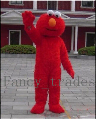 New Red monster Elmo Adult Size Mascot Costume