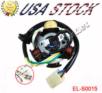 6 Coil Magneto Stator 5 Wires 50cc 110cc 125cc Chinese ATV Taotao Motorcycle