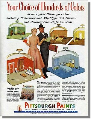 1955 Rooms Under Glass - Pittsburgh Paints - Print-Ad
