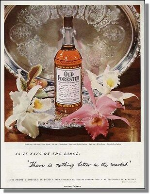 1950 Old Forester Whisky on Silver Platter Print-Ad