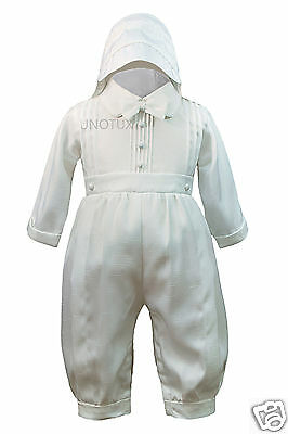New Baby Boy & Toddler Baptism Christening Romper Gown Suit 0 1 2 3 4 (0M-30M)
