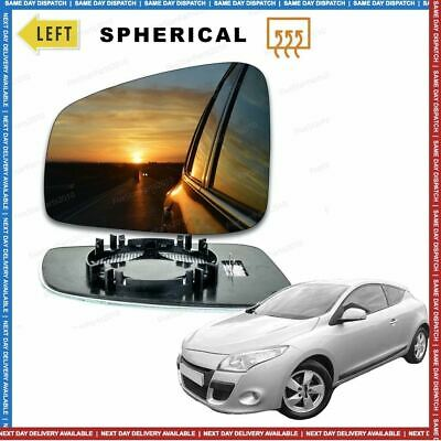 Left Passenger side Convex Wing mirror glass for Renault Megane 2008-15 Heated
