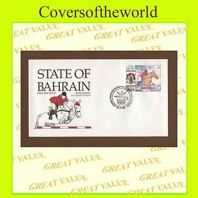 Bahrain 1992 Barcelona Olympics Show Jumping First Day Cover