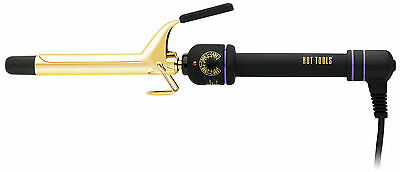 "Hot Tools Professional Spring Hair Curling Iron 3/4"" 1101 Gold MultiHeat Control"