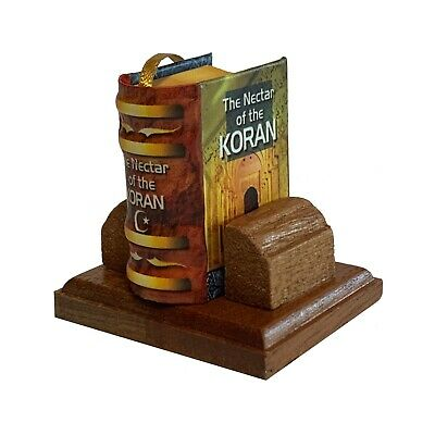 New Nectar of the Koran Miniature Book with wooden stand color pages illustrated