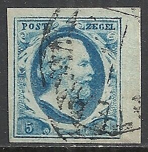 Netherlands stamps 1852 NVPH 1 marginpiece  CANC  VF