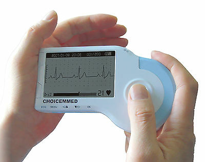 MD100B handheld ECG/EKG Monitor , WITH PEDIATRAIC SUCTION CUP REUSABLE ELECTRODE