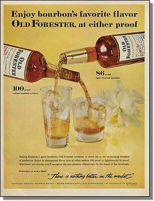 1961 Old Forester Whisky 100 or 86 Proof Print-Ad