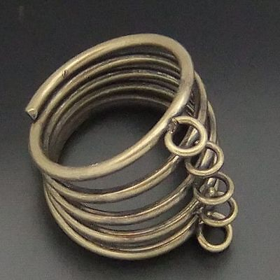 Vintage Style Bronze tone Alloy Spring Ring Settings Findings 12pcs