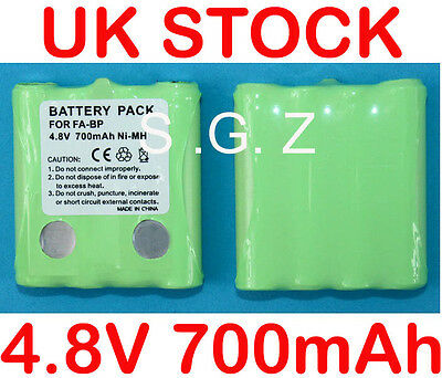 2x NI-MH Battery Pack for Cobra 2 Two Way Radio Walkie Talkie FA-BP Micro Talk