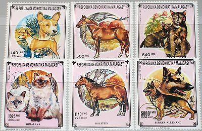 MADAGASCAR MALAGASY 1991 1323-28 1022-7 Fauna Domesticated Animals Dogs Cats MNH