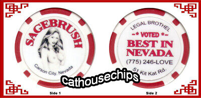 Sagebrush Ranch Mound House, Nevada, Brothel Collectors Chip