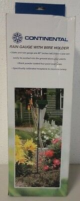 """Continental By Gardena Rain Gauge With Steel Stake Holder Measures 4"""""""