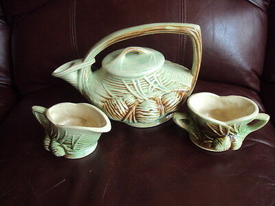 Vintage McCoy Tea Pot With Creamer & Sugar EXCELLENT!!!