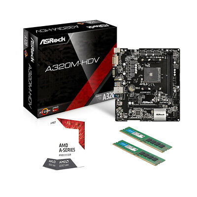 SCHEDA MADRE ASRock + CPU INTEL QUAD CORE + RAM 4GB DDR3 PC GAMING BUNDLE ITX