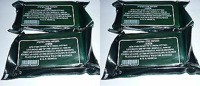 LOT 4 IDF Israeli Army Field Bandage Dressing Emergency IFAK Trauma Vacuum Seal