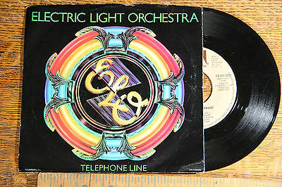 "1970s 45 Electric Light Orchestra ELO ""Telephone Line"" ""Poorboy"" PICTURE SLEEVE"