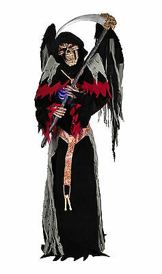 Life Size Animated Talking ULTIMATE WINGED REAPER Haunted House Horror Prop-HUGE