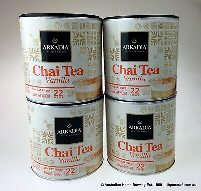 Arkadia Vanilla Chai Tea Latte 440g x 4 Cafe Chai latte hot drink iced chai NEW