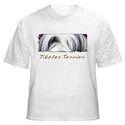 "Tibetan  Terrier   "" The Eyes  Have It  ""  Custom   T shirt"