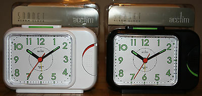 Acctim Sonnet Bell Alarm Clock With Snooze/light/luminous Hands White Or Black