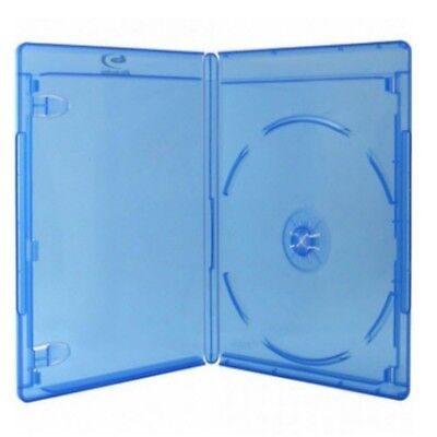 100x BLU-RAY HÜLLEN 1 FACH BOX HÜLLE 11mm 100 STÜCK BLURAY DVD FILM VIDEO CASE