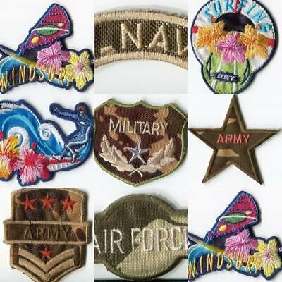 Iron On motifs Patch Boy Army Air Force Surfing Camoflage Soldier