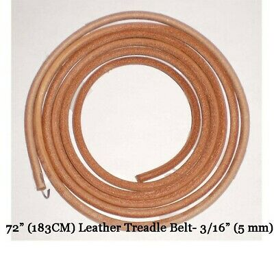 "72"" LEATHER BELT SINGER TREADLE SEWING MACHINE - 3/16"" (5mm)"