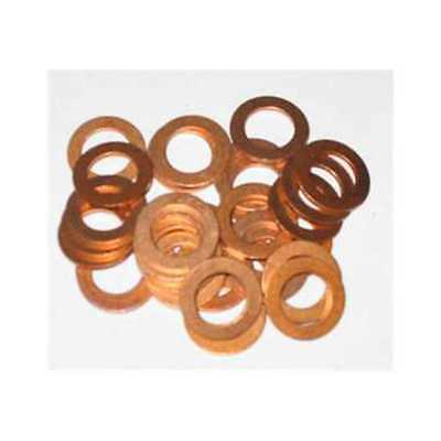 25 X 6Mm Copper Sealing Washer M6 Seal Motorbike 6.0Mm Washers Od 10Mm    Kw92