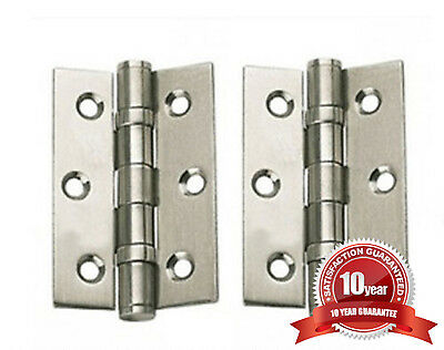 Chrome satin or brass, polished, internal door hinges, ball bearing 75mm, 3 inch