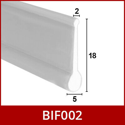 Shower Seal For Bi-Fold Channel Profile Folding Glass Door Strip White 1M