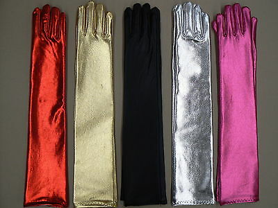 Metalic Formal Wedding Gloves Various Colors Fancy Dress
