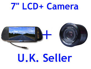 Wide Angle Night view Parking Reversing camera 7'' Mirror monitor LCD Kit