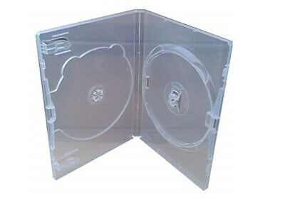 DVD Case Genuine Amaray Clear Side by side - Double X 1