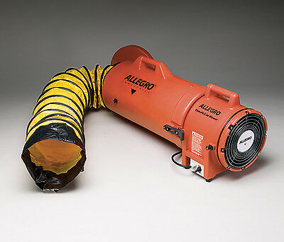 """Allegro 9533-15 Confined Space 8"""" AC Plastic Blower with 15"""" Ducting"""