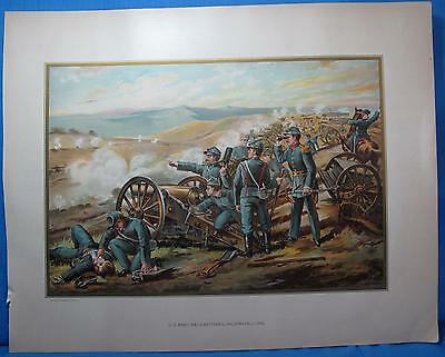 Civil War US Army Batteries Malvern Hill 1862 Chromolithograph Print Werner 1899