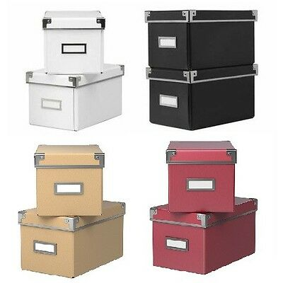 ikea kassett cd storage boxes with lids 2 pack box with lid various colors nip eur 9 30. Black Bedroom Furniture Sets. Home Design Ideas