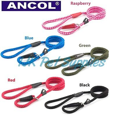 Ancol Dog Soft Strong Nylon Rope Slip Lead Leads light, medium or heavy weight