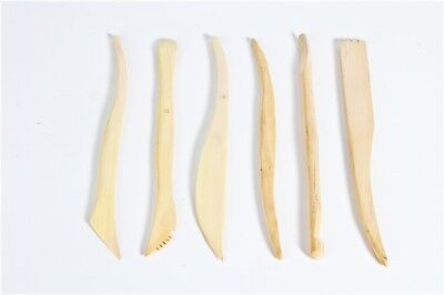 Set of 6 Wooden Tools for Fimo Das Sculpey Plasticine Clay and more