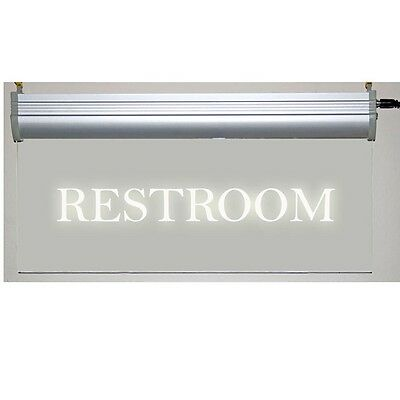 Restroom LED Sign - Clear Plexiglass