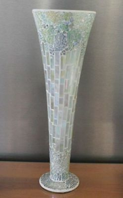 4 x Large Vase Mosaic 40cm tall Bulk Wholesale lot reduced to clear