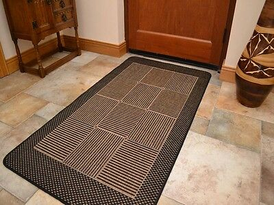 Small Extra Large Black Brown Flatweave Heavy Duty Thin Floor Carpet Rugs Mats