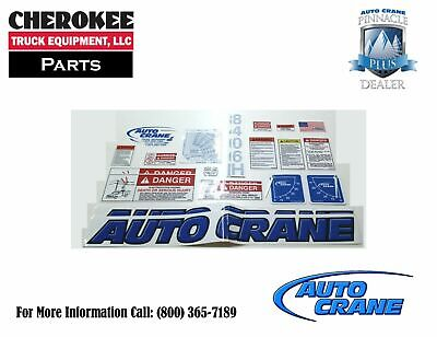 Auto Crane 480896000, Decal Kit for 8406H