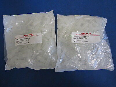 NEW LOT of 200 Wheaton 12x32mm, 1mL Poly-Pro Snap Ring Vials 225235SP